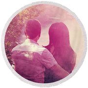 Lovestrong Round Beach Towel