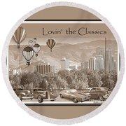 Lovin The Classics II Round Beach Towel