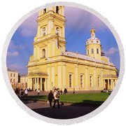 Low Angle View Of A Cathedral, Peter Round Beach Towel