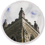 Low Angle View Of A Church, Trinity Round Beach Towel
