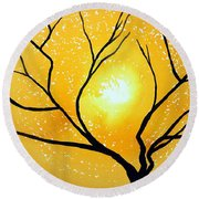 Low Country Original Painting Round Beach Towel