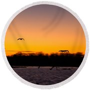 Low Flyby Round Beach Towel
