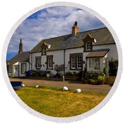 Low Newton By The Sea Round Beach Towel