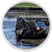 Low Tide Donegal Ireland Round Beach Towel