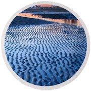 Low Tide In Seattle Round Beach Towel