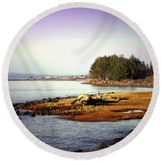 Low Tide Revelations Round Beach Towel