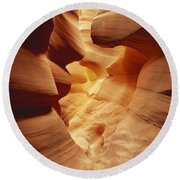 Lower Antelope Canyon, Arizona Round Beach Towel