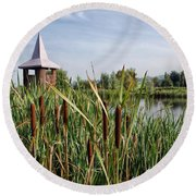 Lower Bruckland Nature Reserve Round Beach Towel
