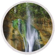 Lower Calf Creek Falls Escalante Grand Staircase National Monument Utah Round Beach Towel