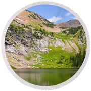 Lower Crater Lake Round Beach Towel