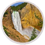 Lower Falls From Uncle Toms Trail Round Beach Towel