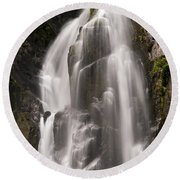 Lower Falls Two Round Beach Towel