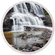 Lower Gooseberry Falls Round Beach Towel