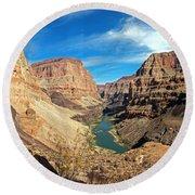 Lower Grand Canyon Round Beach Towel