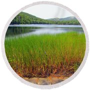 Lower Hadlock Pond Round Beach Towel