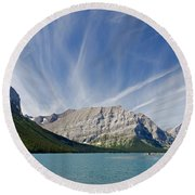 Lower Kananaskis Lake Round Beach Towel