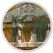 Lower-level Tomb In Myra-turkey Round Beach Towel