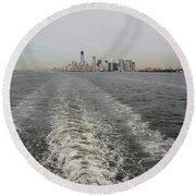 Lower New York Round Beach Towel