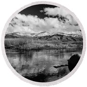 Lower Owens River Round Beach Towel