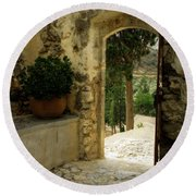 Lower Preveli Monastery Crete 3 Round Beach Towel