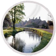 Lower Slaughter Round Beach Towel