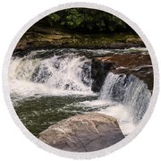 Lower Swallow Falls 2 Round Beach Towel