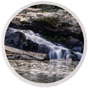 Lower Swallow Falls Stairsteps Round Beach Towel
