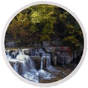 Lower Taughannock Falls Round Beach Towel