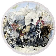 Loyalists & British, 1778 Round Beach Towel