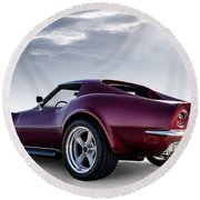 Lt1 Stingray Round Beach Towel