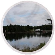 Lubec Channel Scenic View Round Beach Towel