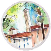 Lucca In Italy 06 Round Beach Towel