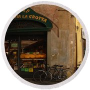 Lucca Italy Round Beach Towel
