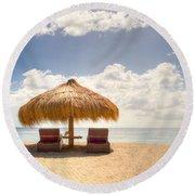 Lucian Beach Hut Round Beach Towel