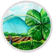 Luck Of The Dale Round Beach Towel