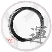 Luck - Zen Enso Round Beach Towel