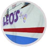 Lucky Leo's Round Beach Towel