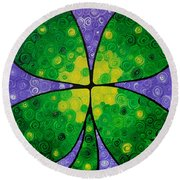 Lucky One Round Beach Towel by Sharon Cummings