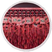 Lucky Wishes In Chinese Temple Round Beach Towel