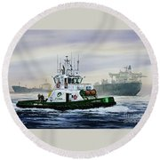 Lucy Foss Round Beach Towel by James Williamson
