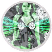 Lucy In The Sky With Diamonds Round Beach Towel