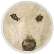 Lucy Silver Point Hp Round Beach Towel