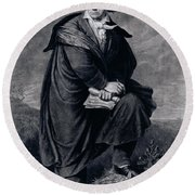 Ludwig Van Beethoven , German Composer Round Beach Towel