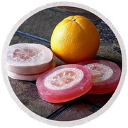 Luffa Red And Pink Soap Round Beach Towel