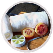 Luffa Soap Round Beach Towel