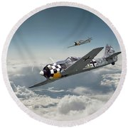 Luftwaffe - Fw190 Round Beach Towel