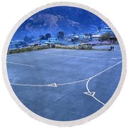 Lukla Airport Round Beach Towel