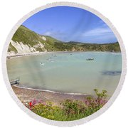 Lulworth Cove Round Beach Towel