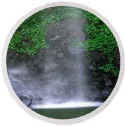Luminous Falls Round Beach Towel