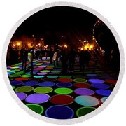 Luminous Field Round Beach Towel